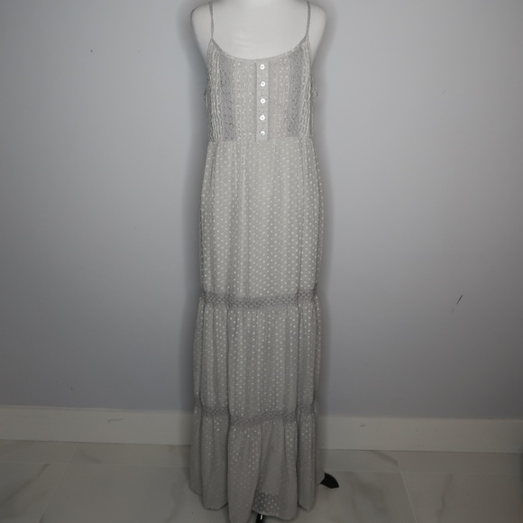 fdd28d2288 Daniel Rainn Dresses   Boho Prairie Light Gray Maxi Dress   Poshmark